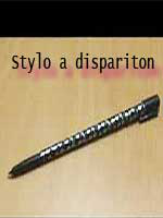 Stylo à disparition - Vanishing pen