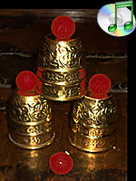Cups and Balls Embossed Brass