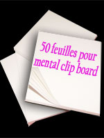 50 feuilles Recharge pour mental clip board close-up