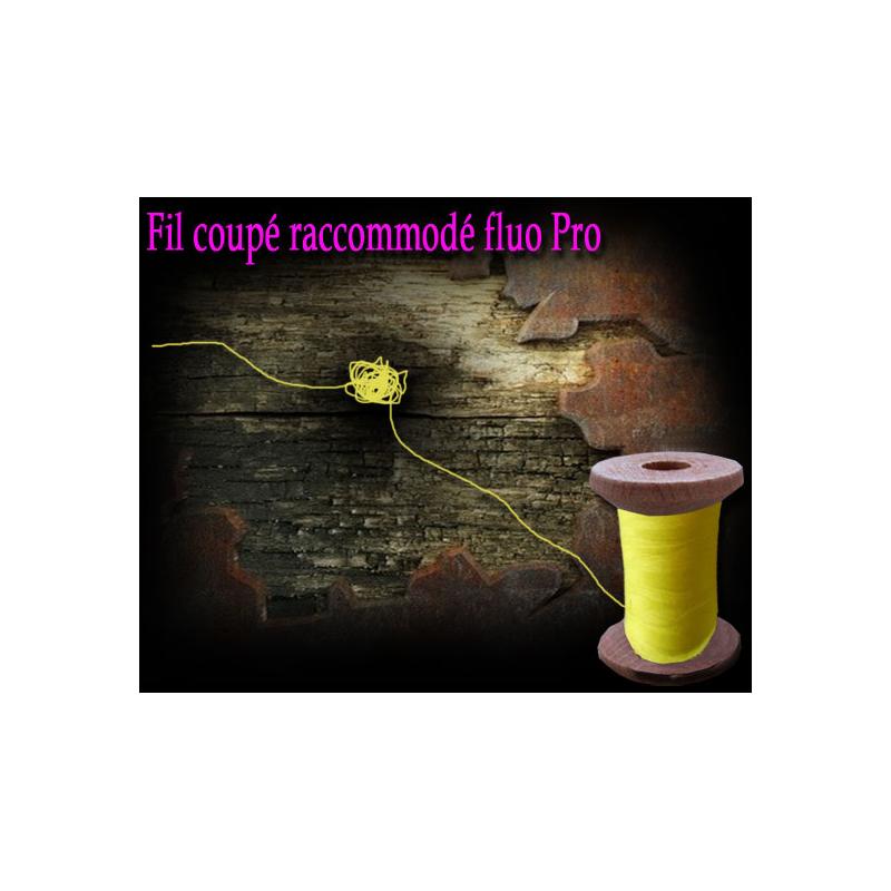 Fil coupé Raccommodé Fluo + bobine bois