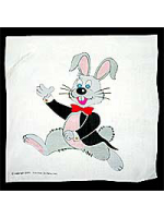 "Foulard Lapin couleur 24"" ( 60 x 60 cm ) Rabbit silk"