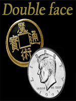 Pièce 1/2 dollar chinoise double Face - Chinese/Kennedy Coin