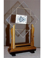 TV Card Frame. carte signée