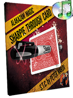 Sharpie Through Card (DVD and Gimmick) Red ( Alakazam )