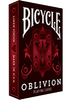 1st Run Bicycle Oblivion Deck (Red) ( Playing Card )
