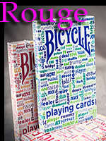 Bicycle Table Talk rouge ( Playing card )