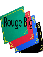 Tapis design grande taille Rouge