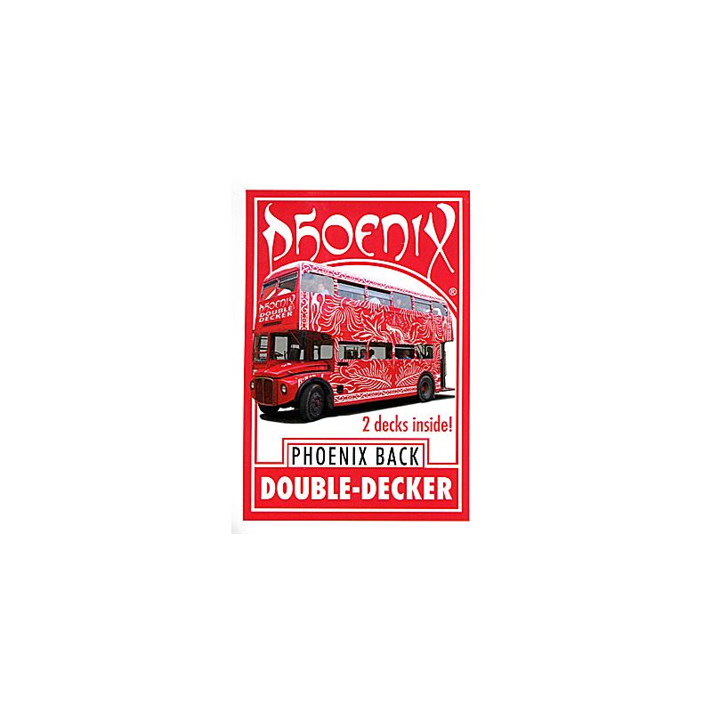 Phoenix Double Decker One Way (52 + 52 identiques Rouge) - Card Shark