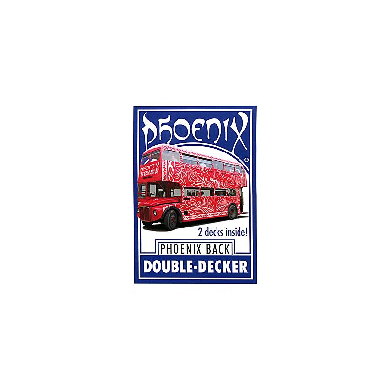Phoenix Double Decker One Way (52 +52 identiques Bleu) - Card Shark