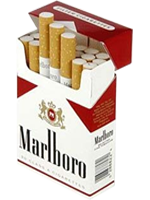 Cigarette a apparition( marlboro rouge )