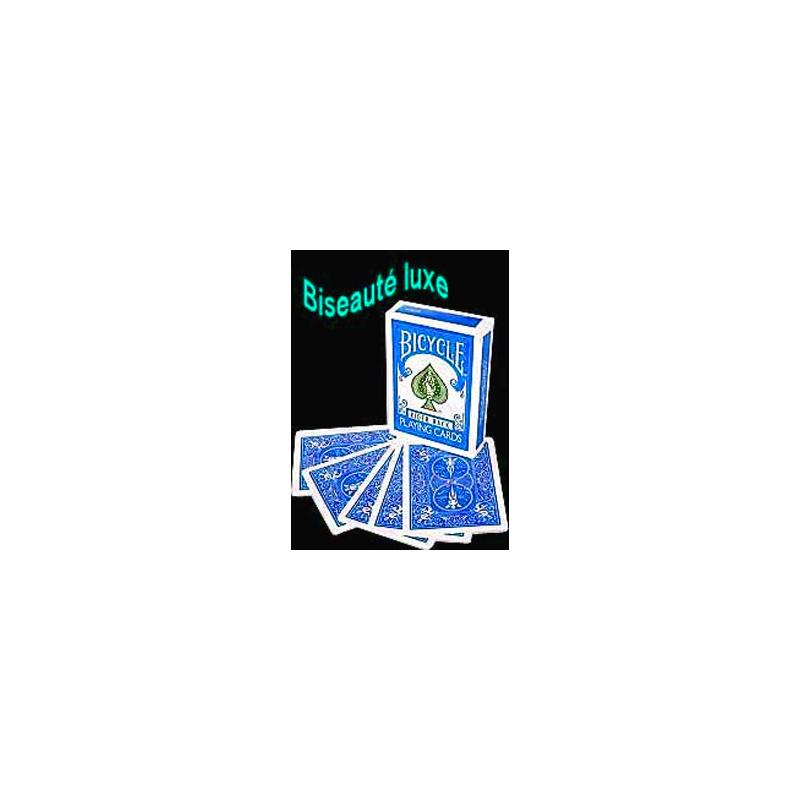 Jeu biseaute luxe Bicycle bleu