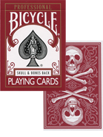 Bicycle Skull and Bones Deck (Rouge) Cambric finish ( Conjuring Arts Research Center )