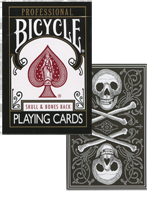 Bicycle Skull and Bones Deck (Black)Cambric finish ( Conjuring Arts Research Center )