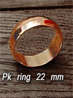 Bague aimantée 22 mn Or ( vortex PK Ring )