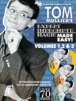 DVD Tom Mullicats expert improptu magic Vol 1, 2, 3