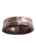 Genuine Half-Dollar Ring 9.5/19.35 mm ( Diamond Jim Tyler)