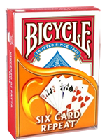 6 Cartes Toujours 6 Cartes ( bicycle rouge)