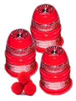 Cups and Balls Alu Designe Rouge