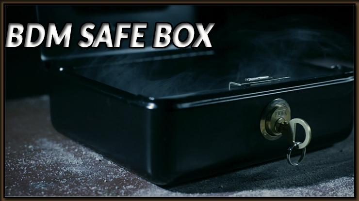 voici la boite en fer avec la clé du Tour BDM Safe Box De Bazar De Magia.