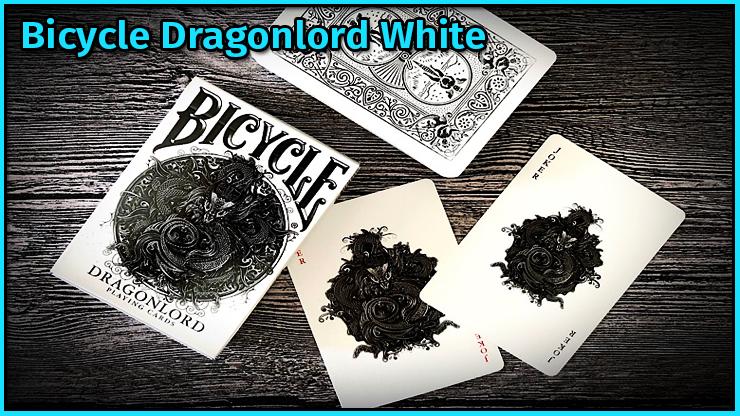 l'etui les deux joker et le dos du jeu Bicycle Dragonlord White TCC Compagny