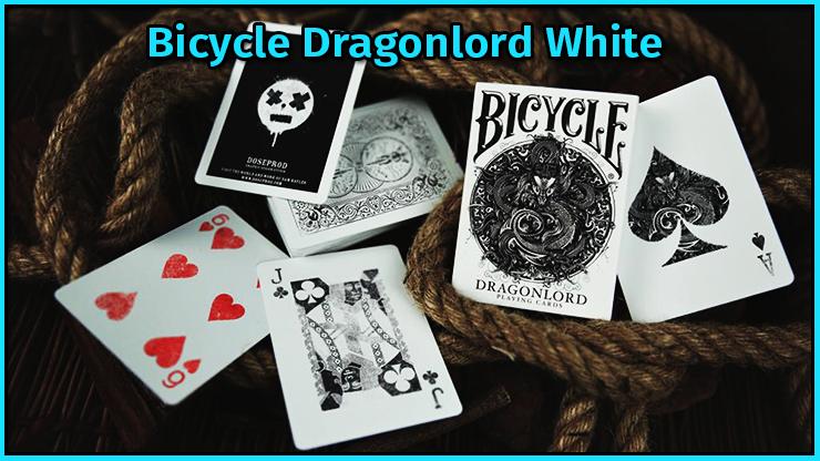 la série des 5 cartes gaffs du jeu Bicycle Dragonlord White TCC Compagny