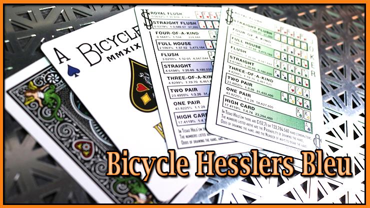 un dos un as de pique et une règle de jeu du Jeu Hesslers Rider Back Bleu