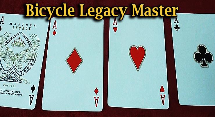 voici le carré d'as du Jeu Bicycle Legacy Red Master Edition