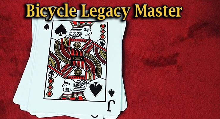 gros plan sur le valet de pique du Jeu Bicycle Legacy Red Master Edition