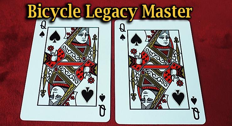 deux dans de pique dans le Jeu Bicycle Legacy Red Master Edition