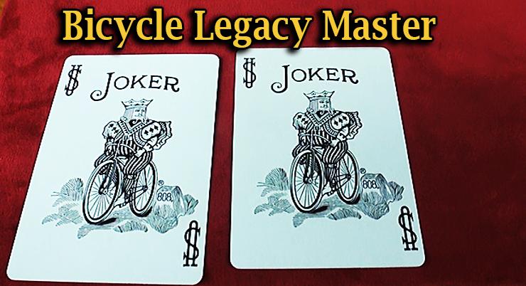 deux jokers identiques dans le Jeu Bicycle Legacy Red Master Edition