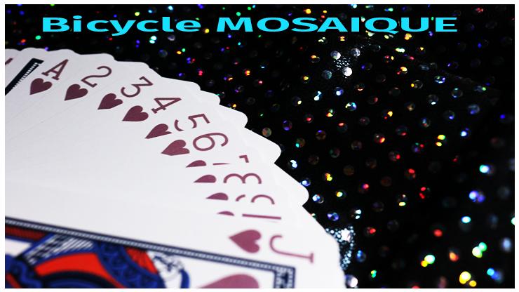 la série a cœur du jeu Jeu Bicycle Mosaique playing Card