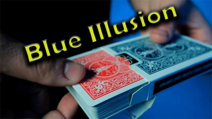 démonstration du changement de couleur de blue illusion Mark Mason
