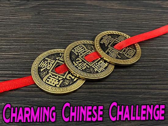 voici les pièces côté pile du tour Chinese Coin & Ribbon jimmy phan
