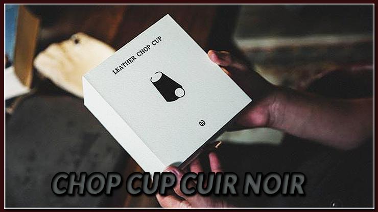 la boite blanche du tour Chop Cup Cuir noir de TCC