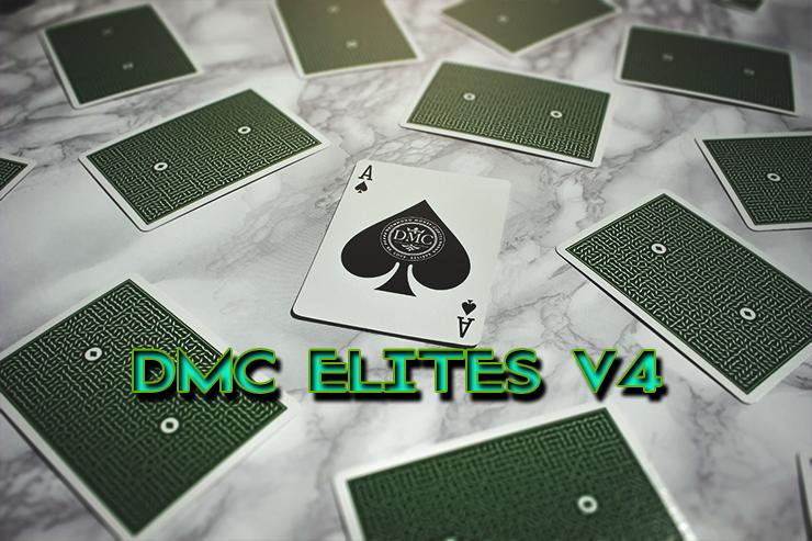 l'as de pique en gros plan avec des dos du jeu DMC ELITES Forest Green V4