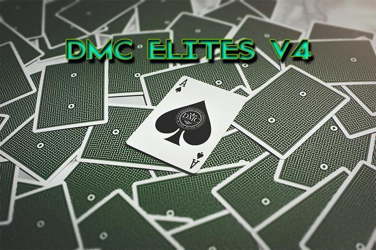 toutes les cartes sont retournées sauf l'as de pique du jeu DMC ELITES Forest Green V4