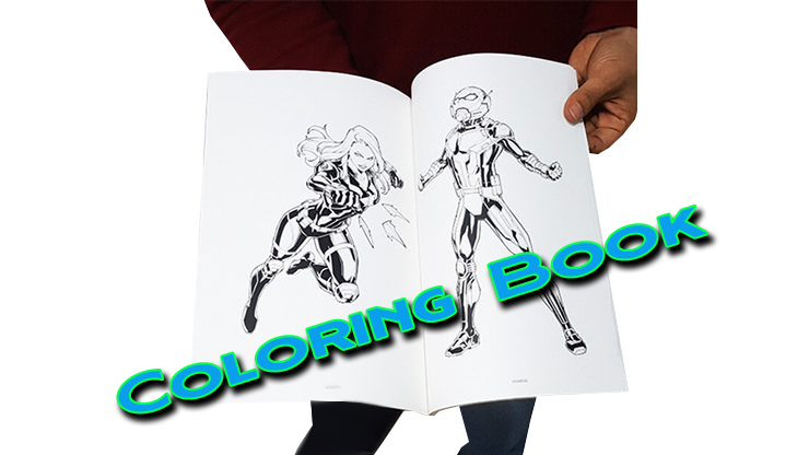 le livre a coloriage a maintenant des pages en noir et blanc du Coloring Book Avengers - JL Magic