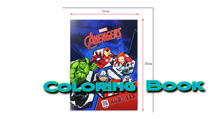 voici les dimention du Coloring Book Avengers - JL Magic