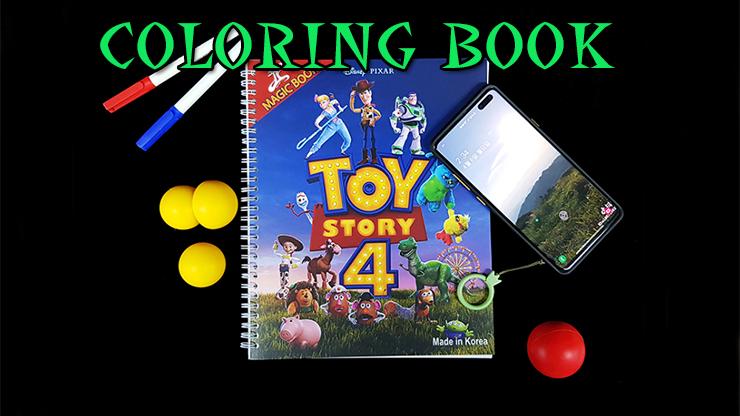 voici le coloring book et tout les objet associès du Première Photo de Coloring Book Toy Story 4