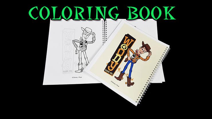 les page sont en noir et blanc du livre Première Photo de Coloring Book Toy Story 4