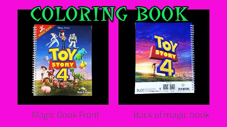 vue de face et de dos du livre Première Photo de Coloring Book Toy Story 4