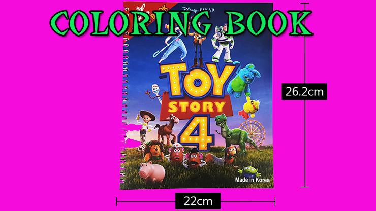 voici les dimensions du livre Première Photo de Coloring Book Toy Story 4