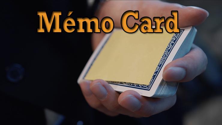 gros plan sur le post-it posé sur la carte du tour Memo Card de Sultan Orazaly et feat Zach Ng