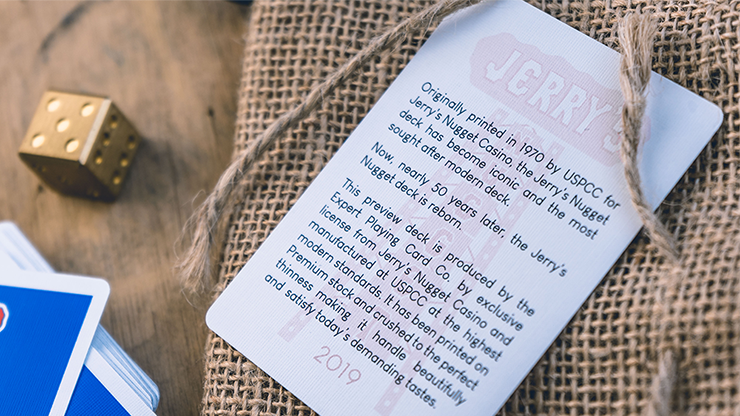 la carte notice des jeu jerry's nuggets