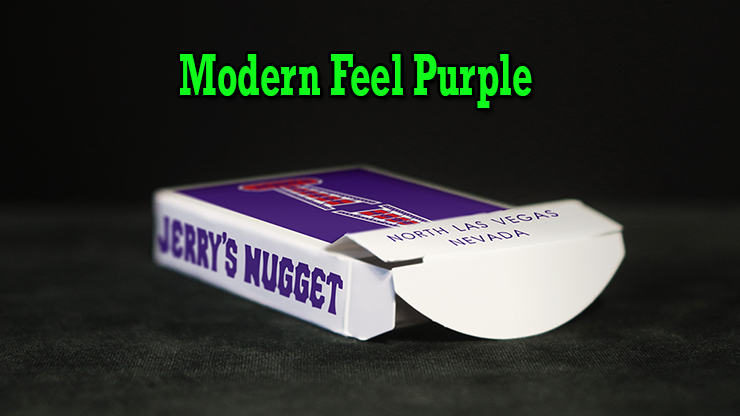 voici l'etui ouvert sur table du jeu Modern Feel Jerry's Nugget Purple