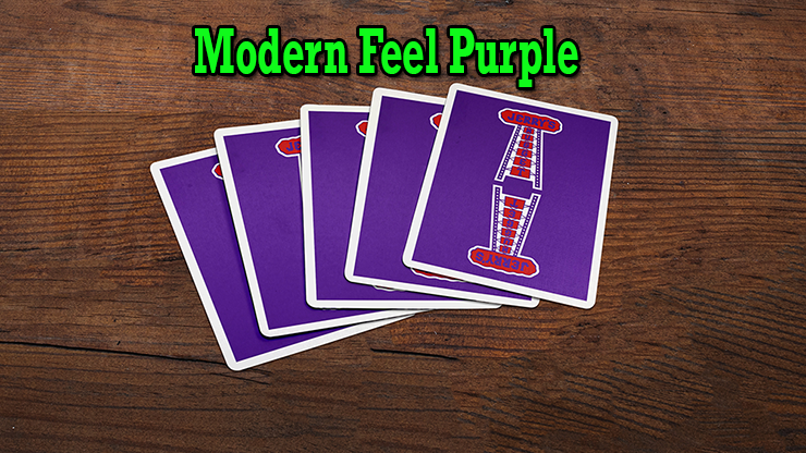 ruban du 5 cartes a dos violet du jeu Modern Feel Jerry's Nugget Purple