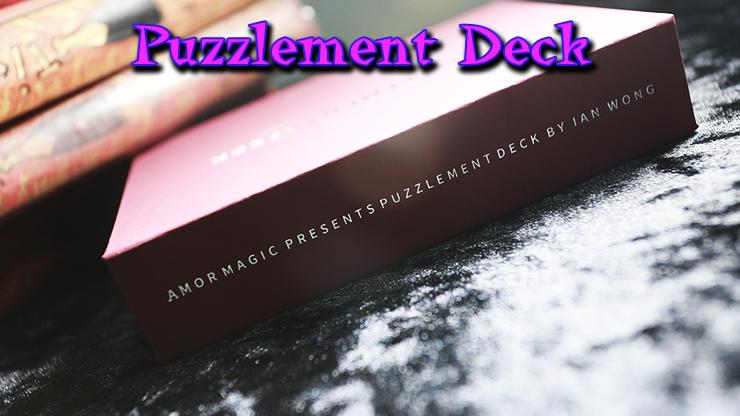 voici la tranche de la boite du tour Puzzlement Deck de Ian Wong & Amor Magic