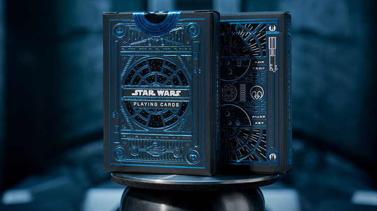 face de l'étui de star wars dark side bleu