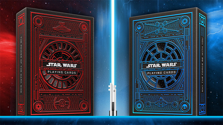 voici le jeu bleu et rouge star wars dark side