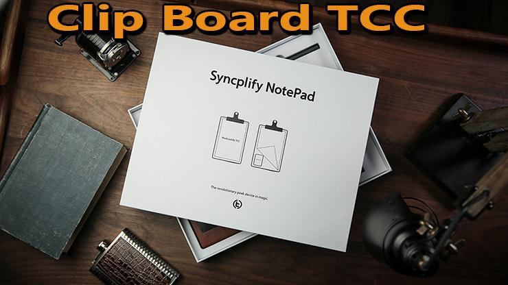 la boite du pad est posé sur un bureau c'est le Clip Board Syncplify NotePad de TCC.